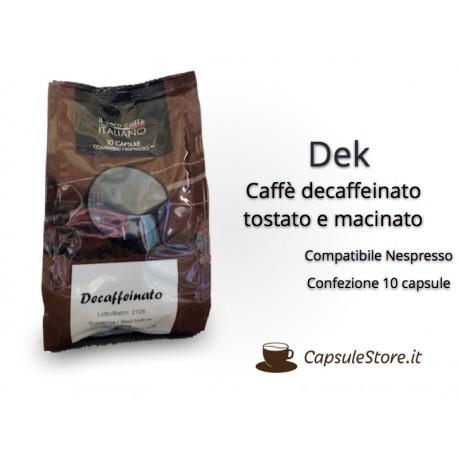 Compatibili Nespresso Caffè Dek 10 Capsule