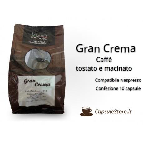 Compatibili Nespresso Caffè Gran Crema 10 Capsule